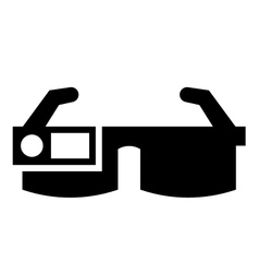 Smart glasses icon vector