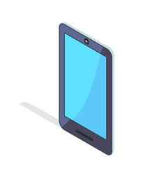 smartphone portable cellphone in isometric design vector image vector image