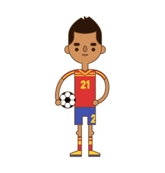 Soccer player kicking ball competition sport young vector image vector image