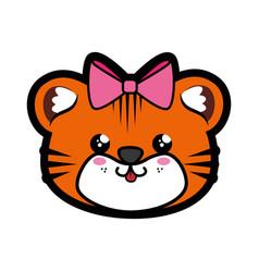 Tiger kawaii cartoon vector