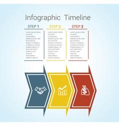timeline arrows 3 vector image vector image