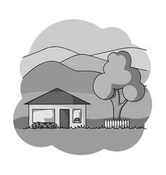 vacation homerealtor single icon in monochrome vector image vector image