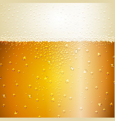 Water drops on beer background vector