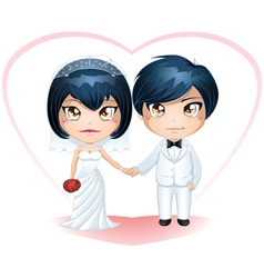 Bride and groom getting married 3 vector
