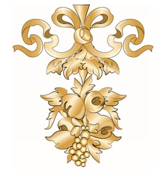 Royal floral classic ornament element vector