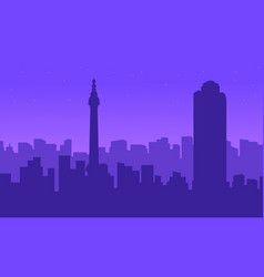 Silhouette of london city building landscape vector
