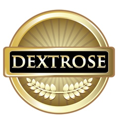 Dextrose gold label vector