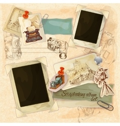 Retro scrapbooking set vector