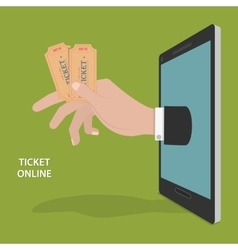 Online ticket order concept vector