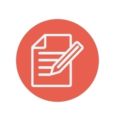 Taking note thin line icon vector