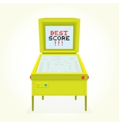 Best score retro pinball game machine vector