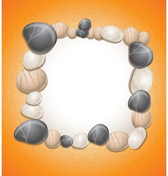 sand background with stones and copy-space for tex vector image