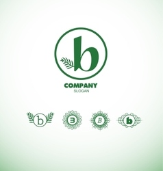Letter b small logo vector