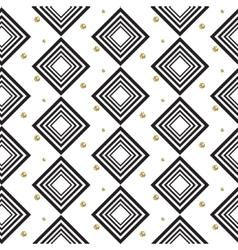 Gold foil glitter polkadot and black rhombs vector image