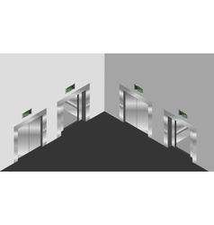 elevator isometric design set vector image