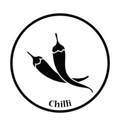 Chili pepper icon vector