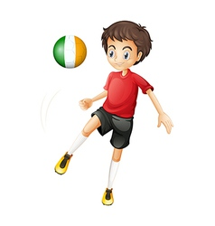 A young soccer player from Ireland vector image vector image