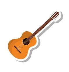 Acoustic guitar isolated icon vector