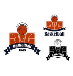 Basketball game sporting symbol or emblem vector image vector image