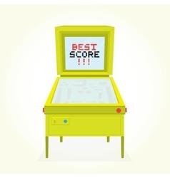 Best score retro pinball game machine vector image