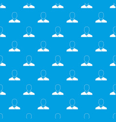 buddhist monk pattern seamless blue vector image