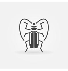 Bug or beetle icon vector