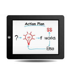 business action plan vector image