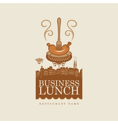 Business lunch vector image vector image