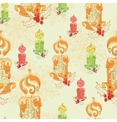 Christmas Lit Candles Light Festive vector image