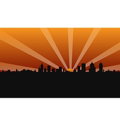 city building sunshine vector image vector image