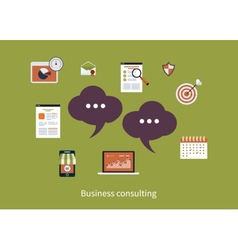 Concept of consulting services vector image