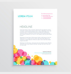 Creative letterhead design template with colorful vector