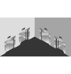 Elevator isometric design set vector