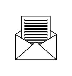 envelope icon email design graphic vector image