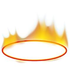 Fire banner vector