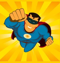 flying superhero vector image