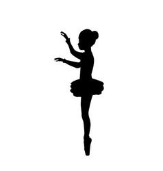 girl ballerina silhouette dance ballet vector image
