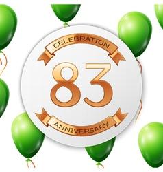 Golden number eighty three years anniversary vector