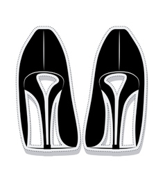 heel shoes wear female isolated icon vector image