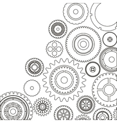 Isolated gears design vector