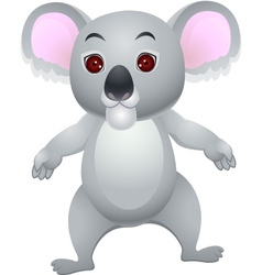 Koala cartoon vector image vector image
