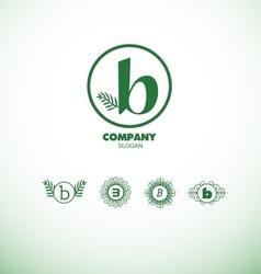 Letter b small logo vector