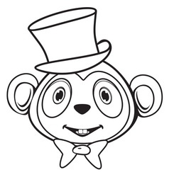 Majmun BW vector image