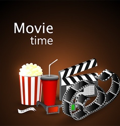 Movie time vector image