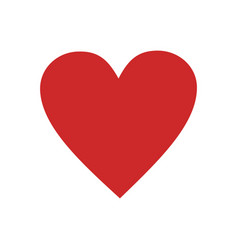 red heart icon simple vector image