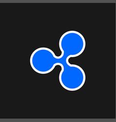 Ripple icon vector