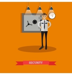 Security guard in flat vector