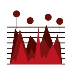 Statistics chart vector