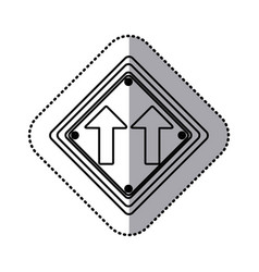 Sticker silhouette diamond shape frame same vector