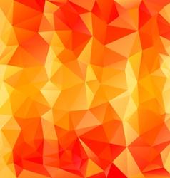 Striped orange polygonal triangular pattern vector